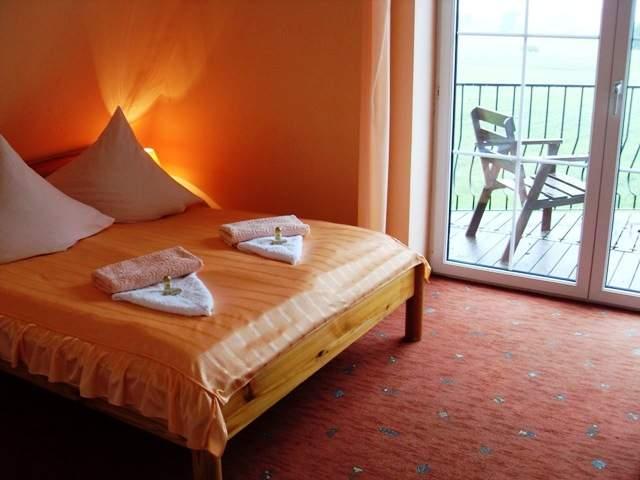 Ein hübsches 2-4-Pers.Zimmer mit Doppelbett, Schlafsofa, Balkon mit Ausblick auf die masur. Landschaften, DU, WC, Handtüchern, Kühlschrank, SAT-TV (Deutsche Programme)