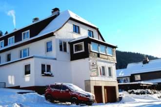 Steinbergsblick - Pension in Nahetal-Waldau, Thüringen - Pension im Winter