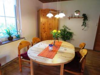 Ferienwohnung FeWo mit  Sauna & W-LAN - Nordsee  Ostfriesland Esens - Gemütliches Esszimmer