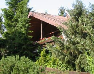 Eifel-Schwimmbad - Ferienhaus in Kreuzau, Eifel - Giebelansicht