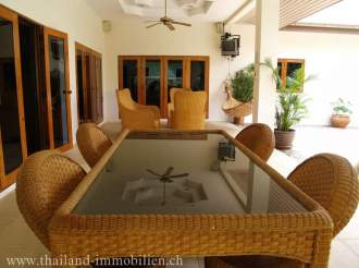 Ferienhaus Luxusvilla mit Swimmingpool - Prachuap Khiri Khan   Hua Hin - Terrasse