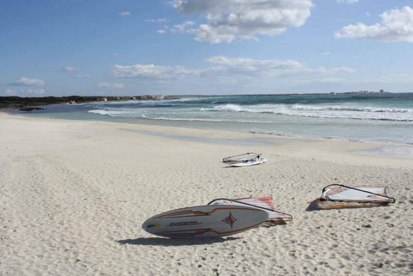 Der Strand von Sa Rápita, nur 3,5 Km entfernt