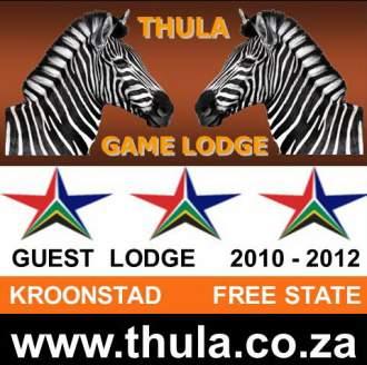 Ferienhaus THULA GAME LODGE -  andere Region Südafrika   KROONSTAD (FREESTATE) N1 - Thula Logo