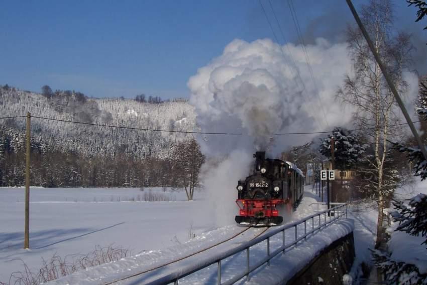 Die Preßnitztalbahn bei Steinbach