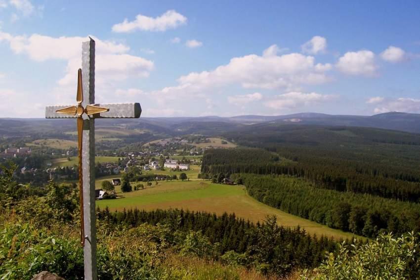 Blick übers obere Erzgebirge