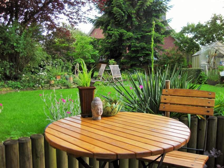 Der Sitzplatz auf der Terrasse
