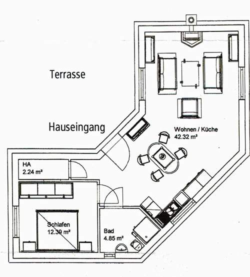 Grundriss Ferienhaus Casa Carolus im Landkreis Oldenburg