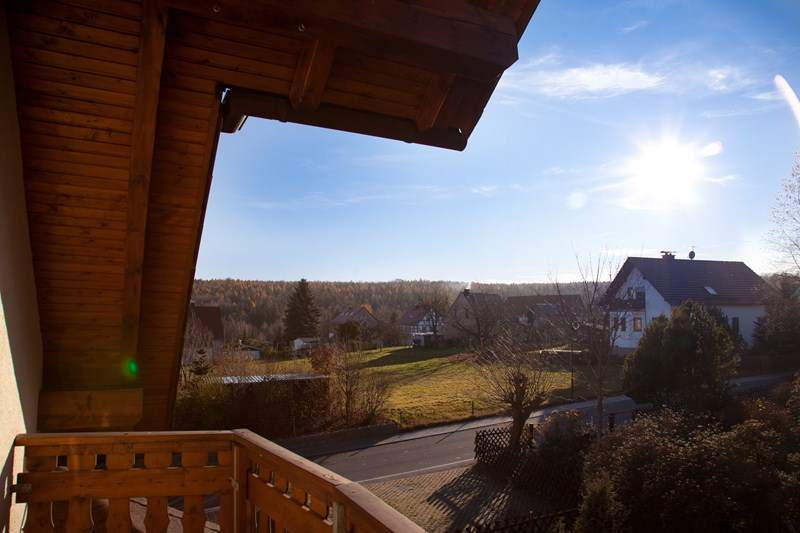 Blick vom Balkon  - Ferienwohnung Hetzdorf