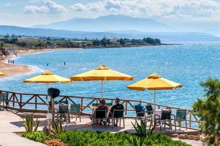 Ferienwohnung am Strand östlich von Rethymno - Kreta  Rethymnon Sfakaki