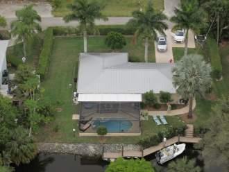 Ferienhaus Haus im Florida Stil am G.v. Mexico - Florida  Cape-Coral Bonita Springs - Ferienhaus von oben