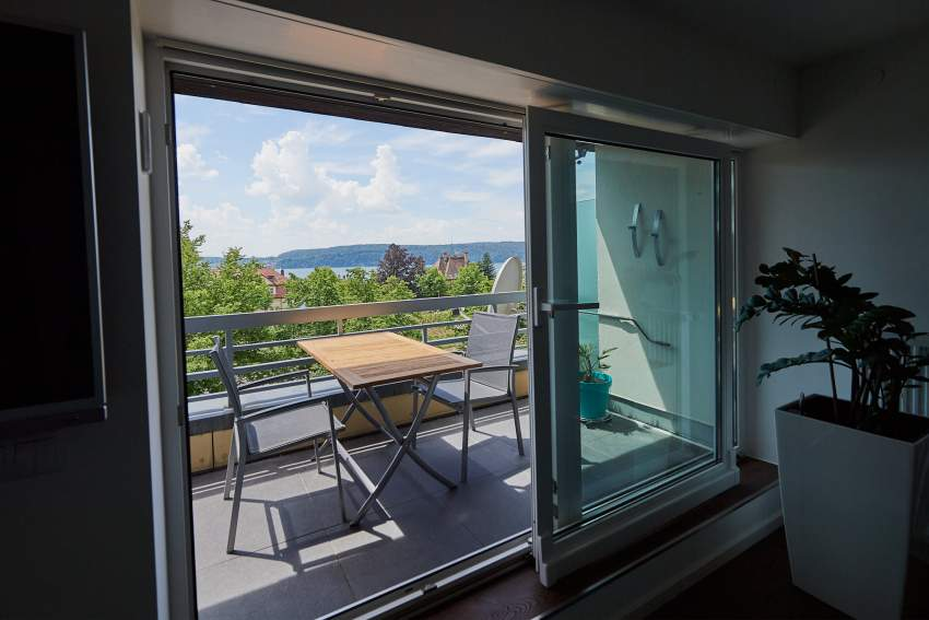 Blick Dachterrasse - See