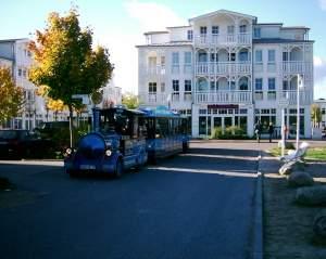 Die Bäderbahn fährt Sie kostenlos zum Süd- oder Hauptstrand