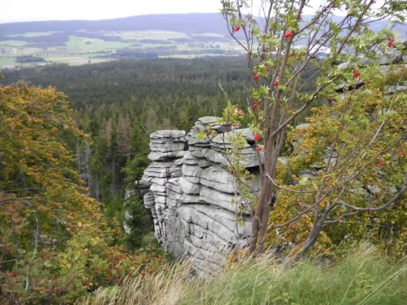 Rudolfstein mit Blick auf den Weissenstädter See